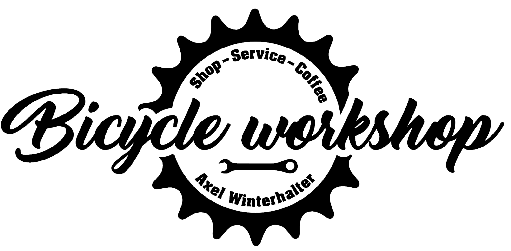 Bicycle workshop logo transparent big